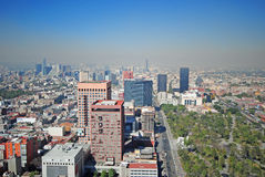 Panorama of Mexico City stock photos
