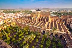 Panorama of Mezquita in Cordoba, Spain Stock Photos