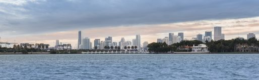 Panorama of Miami downtown city, USA Royalty Free Stock Photography