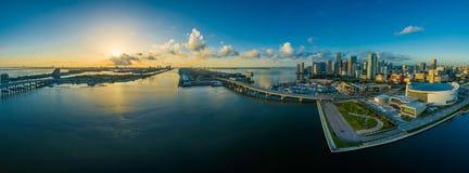 Panorama, Miami, Florida, Water Royalty Free Stock Photos