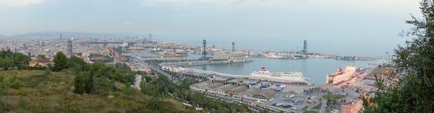 Panorama miasto Barcelona równo Fotografia Stock