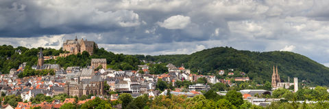 Panorama miasto Marburg Obraz Royalty Free