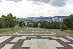 Panorama miasto Stara Zagora, Bułgaria fotografia royalty free