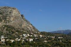 Panorama miasto w górach Obraz Royalty Free