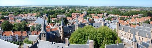 Panorama Middelburg lizenzfreies stockfoto