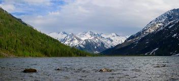 Panorama of middle Multa lake Royalty Free Stock Images
