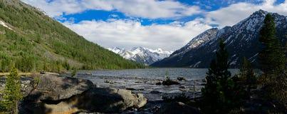 Panorama of middle Multa lake Royalty Free Stock Photography