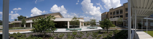 Panorama of Middle School Stock Photography