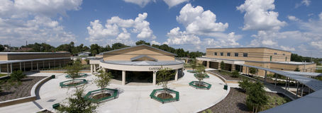 Panorama of Middle School Royalty Free Stock Photography