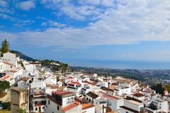 Panorama Mijas Royalty Free Stock Photography