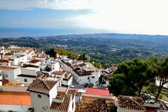 Panorama Mijas Royalty Free Stock Photos