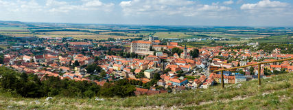 Panorama of Mikulov town, South Moravia, Czech Republic Stock Image