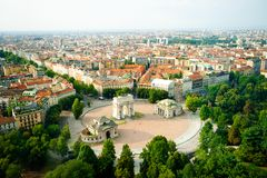 Panorama of Milan Royalty Free Stock Photo