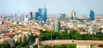 Panorama of Milan Royalty Free Stock Images