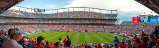 Panorama at Mile High Stadium Royalty Free Stock Images