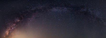 Panorama Milky sposób obrazy stock