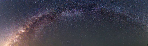 Panorama of milky way Stock Photo