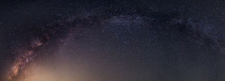 Panorama of milky way. Found on the sky at Thailand stock images