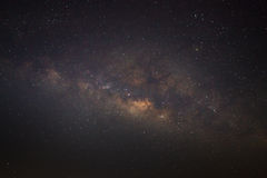 The Panorama Milky Way galaxy, Long exposure photograph Royalty Free Stock Image