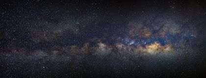 Panorama Milky way galaxy with stars and space dust in the unive. Rse Royalty Free Stock Photo