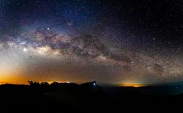 Panorama milky way galaxy with stars and space dust in the universe. Astro astronomy astrophotography atmosphere background beautiful beauty cosmic cosmos dark stock photos