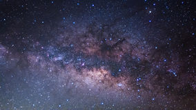 The Panorama Milky Way ,Long exposure photograph. Royalty Free Stock Photography