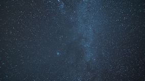 Panorama of the Milky Way with meteorite rain and a glance through the universe to space and other galaxies. A glance through the universe to space and other stock footage