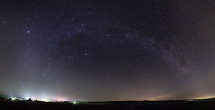 Panorama of Milky Way Royalty Free Stock Photo