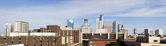 Panorama of Minneapolis, Minnesota Stock Images