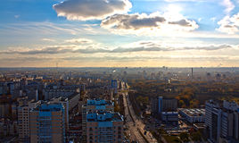 Panorama of Minsk,Belarus. View of Minsk with a height of 80 meters Stock Photography