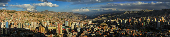 Panorama Mirador Killi Killi, La Paz, Bolivien Stockbild