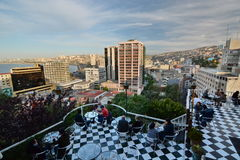 Panorama from mirador paseo Atkinson. Cerro Alegre. Valparaiso. Chile Stock Photo