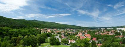 Panorama of Miskolc Royalty Free Stock Image