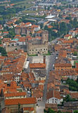 Panorama mit dem Schachquadrat und dem Schloss Stockbilder