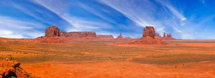 Panorama of Mittens and Rock Formations Royalty Free Stock Images