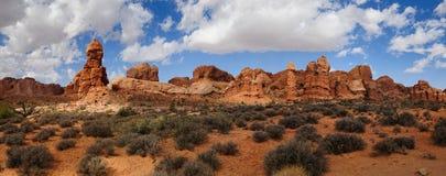 Panorama Moab Utah Royalty-vrije Stock Foto's