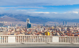 Panorama with modern city buildings. Izmir, Turkey Royalty Free Stock Image