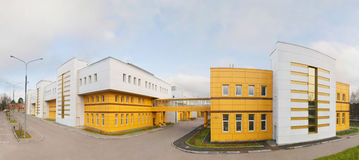 Panorama of modern electronics plant Stock Photography