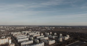The panorama is the modern residential area. Aerial view. Modern city block from the height of bird flight stock footage