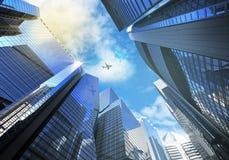 Panorama moderne de gratte-ciel de paysage urbain de panorama du ce Images stock