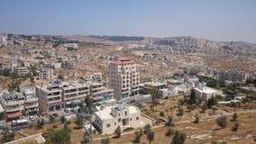 Panorama moderno de Jerusalén Arquitectura del apartamento y de los edificios de oficinas en el ciity santo Jerusalén fotografía de archivo libre de regalías