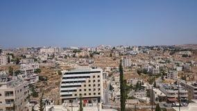 Panorama moderno de Jerusalén Arquitectura del apartamento y de los edificios de oficinas en el ciity santo Jerusalén imágenes de archivo libres de regalías