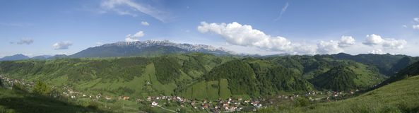 Panorama Moeciu Roemenië Stock Afbeeldingen