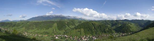Panorama Moeciu Rumania Imagenes de archivo
