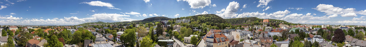 Panorama of Moedling with his famous aqueduct - Lower Austria Royalty Free Stock Images