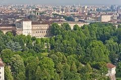 Panorama from Mole Antonelliana, Turin, Italy Royalty Free Stock Images