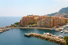 Panorama of Monaco Royalty Free Stock Images