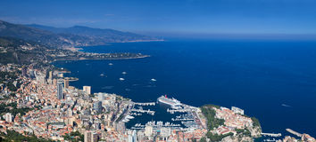 Panorama of Monaco Royalty Free Stock Photos