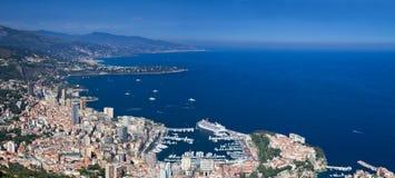 Panorama of Monaco Royalty Free Stock Photos