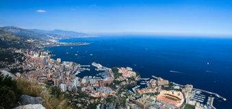 Panorama of Monaco Royalty Free Stock Photography